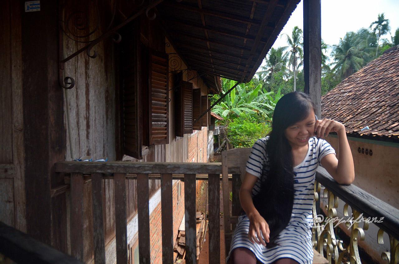rumah tradisional di desa wana lampung timur keliling